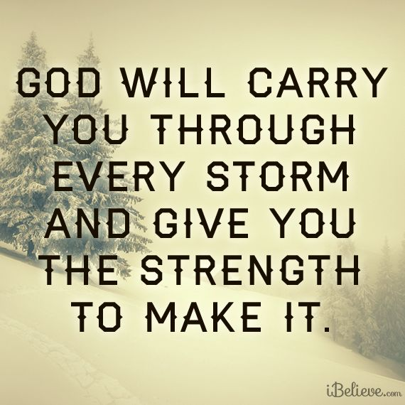 God Will Carry You!